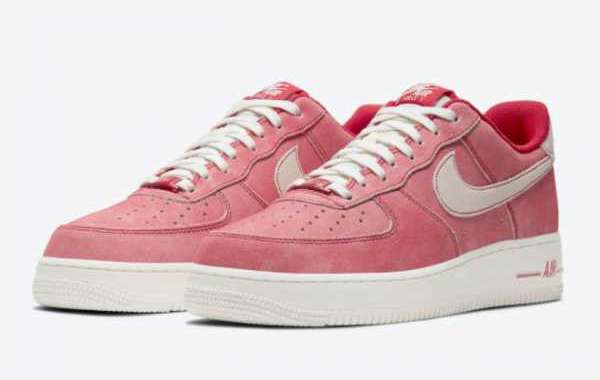 2021 Shop Nike Air Force 1 Low Dusty Red Suede Casual Shoes DH0265-600