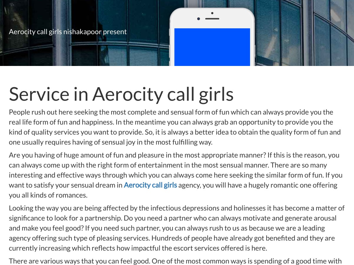 Aerocity call girls