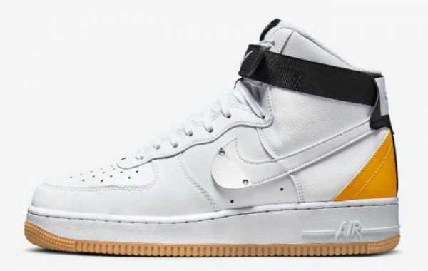 "NBA x Nike Air Force 1 High ""University Gold"" 2021 New Arrival CT2306-101"